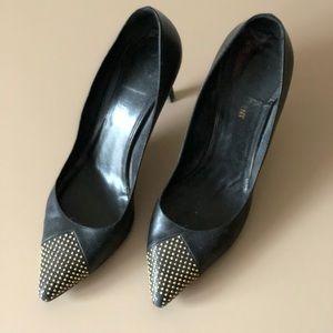 Saint Laurent black stud heels